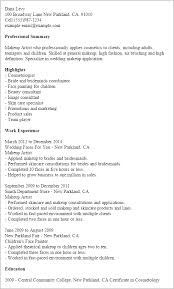 makeup artist resume template 1 makeup artist resume templates try them now myperfectresume