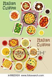 cuisine italienne pates clipart cuisine italienne pâtes plats icône ensemble
