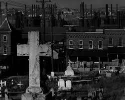 graveyard clipart black and white photo of bethlehem graveyard and steel mill pennsylvania 1935