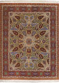 Fine Persian Rugs Fine Vintage Silk Tabriz Persian Rug 51002 Nazmiyal