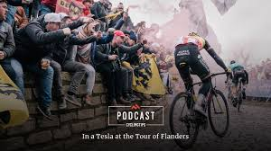 ag2r la mondiale si e social cyclingtips podcast in a tesla at the tour of flanders cyclingtips