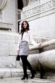 blouse your boots white bow blouse grey plaid skirt 5 tips to meet your