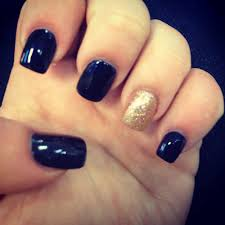 navy blue and gold sparkle nails nail art pinterest gold