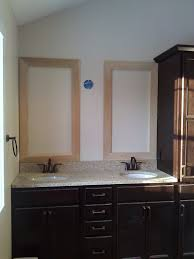 nice bathroom ideas with vanity double sink and mirror with simple