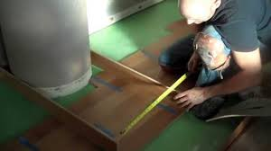 Cutting Laminate Flooring Cutting A Hardwood Or Laminate Floor Around A Circle Youtube