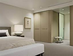 half day designs painted wall stripes interior design spice modern minimalist formal living room with half wall conrete beige bedroom simple wardrobe opaque glass sliding ideas