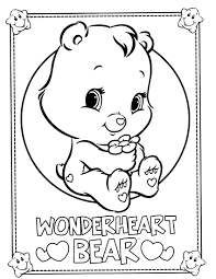 care bear coloring pages kids womanmate