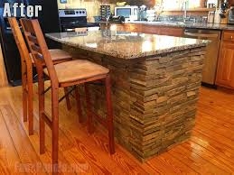 stone kitchen islands a diy kitchen island for beginners creative faux panels