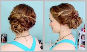 side buns for shoulder length fine hair quick side chignon updo hairstyles for medium length hair latest