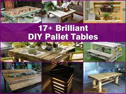 Patio Furniture Out Of Wood Pallets by 17 Brilliant Diy Pallet Tables