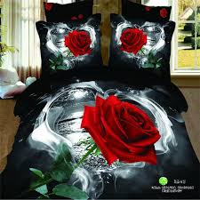 Cheap Black Duvet Covers Online Get Cheap Black Red Rose Duvet Cover Aliexpress Com