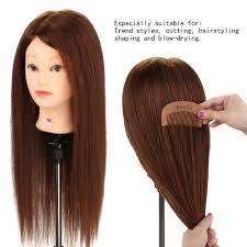 shaping long hair hairstyle doll 26 90 real long hair trainng head hairdressing
