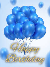 birthday balloons for him blue balloon b day card birthday greeting cards by davia