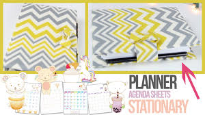 your own planner agenda tutorial planner stationery how to make your own