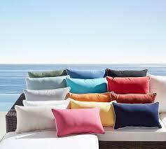 Sunbrella Indoor Sofa by Sunbrella Contrast Piped Solid Indoor Outdoor Pillow Pottery Barn