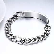 stainless steel black bracelet images Stainless steel black carbon fiber chain bracelet 3rd store jpg