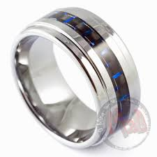 gunmetal wedding band tungsten rings australia blue steel tungsten rings mad tungsten
