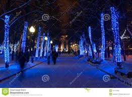 winter park christmas lights christmas lights on trees in winter park stock photo image of