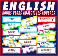 adjective verb and noun colourful game by jacksos2 teaching