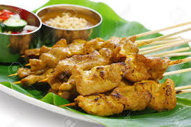 cuisine thaï beef satay pork satay cuisine stock photo picture and