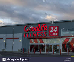 a goodlife fitness retail store in calgary alberta canada stock