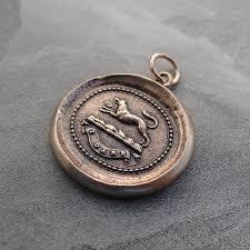 wax seal jewelry wolf wax seal pendant motto i antique wax seal jewelry