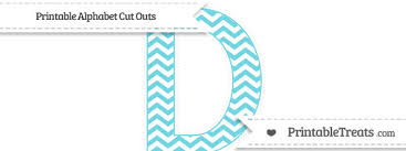 free pastel teal chevron extra large capital letter d cut outs