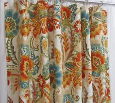 Bright Orange Curtains Teal Orange Curtains Bright Floral Curtains Traditional