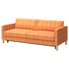 hip and fab orange fabric two seater midcentury cool couches for