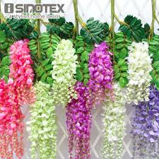 wisteria home decor aliexpress com buy 12pcs lot 110cm artificial flower hanging