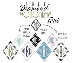 create monogram initials free diamond monogram font customize online then