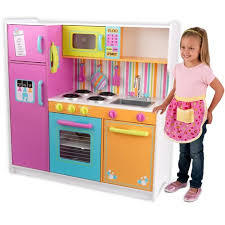 cuisine kidkraft avis grande cuisine de luxe aux couleurs vives en bois jouet d