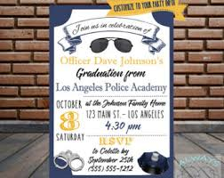 academy graduation invitations cop glass gift handcuffs this