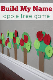 apple tree build my name game learning your name pinterest