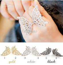 butterfly crystal rings images Crystal ring big butterfly ring mix color fs31 2 carat diamond jpg