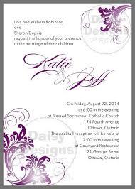 Wedding Invitations Ottawa 31 Diy Wedding Invitations Purple Vizio Wedding