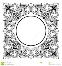 frame with baroque ornaments royalty free stock photography