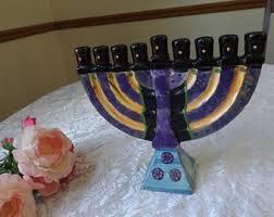 menorah candle 5 candle menorah etsy