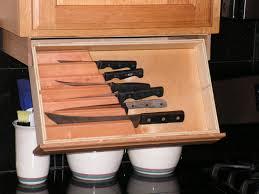 Undercounter Kitchen Storage Under Cabinet Knife Rack