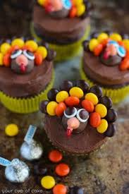 wide eyed turkey cupcakes thanksgiving thanksgiving treats and eye