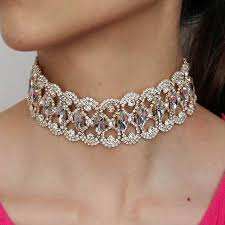 big rhinestone necklace images Manilai luxury rhinestones necklace for women chocker big crystal jpg