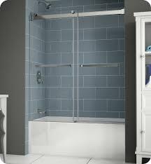 fleurco npt60 25 40 gemini plus frameless bypass sliding tub doors