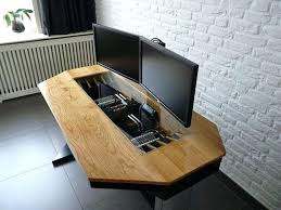 Custom Desk Ideas Custom Wood Computer Desk Great Custom Wood Computer Desk Best