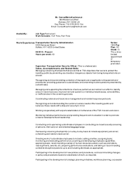 Security Job Objectives For Resumes by Tsa Resume Objective Contegri Com