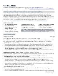 resume sample logistics manager cynic encouraged ga