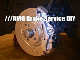 brake pad u0026 rotor replacement diy mercedes w211 e55 amg youtube