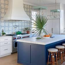 white island kitchen 11 beautiful blue kitchens coastal living