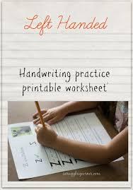 left handed learning letter practice worksheet z gym craft laundry