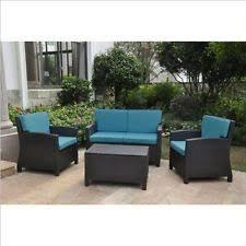 Conversation Settee International Caravan Wicker Patio U0026 Garden Furniture Sets Ebay