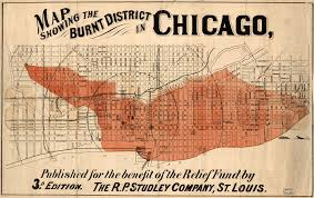 Chicago Columbian Exposition Map by Maps Show How Chicago Was Devastated After The Great Fire Of 1871